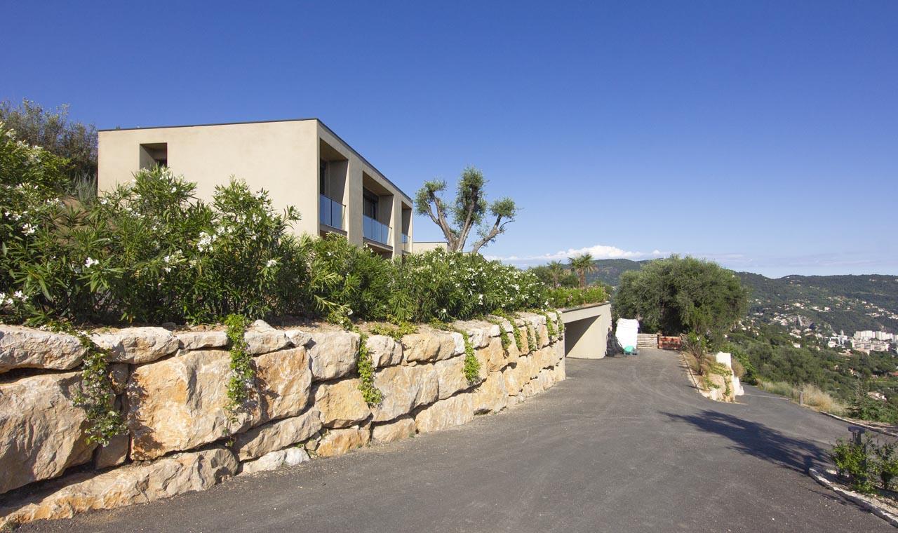 Aménagement des abords d'une villa à Gairaut Nice