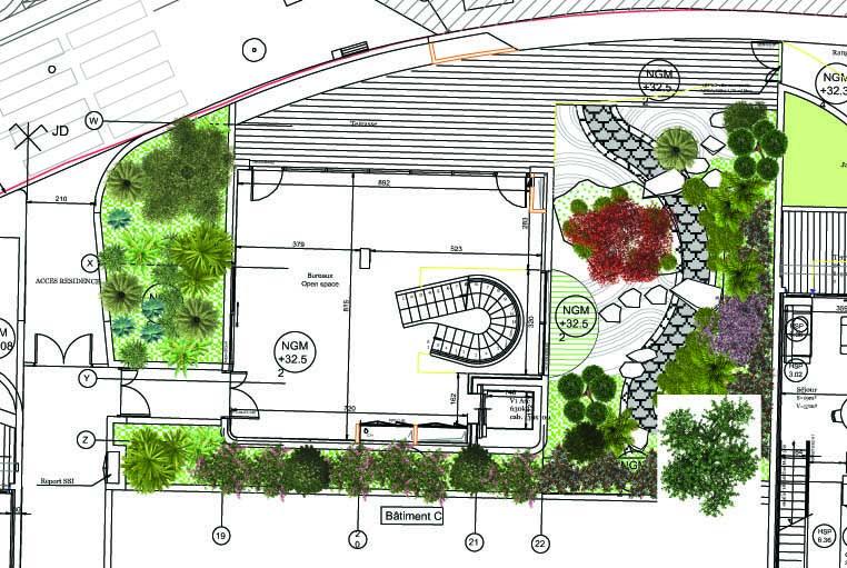Plan d'un immeuble à Monaco