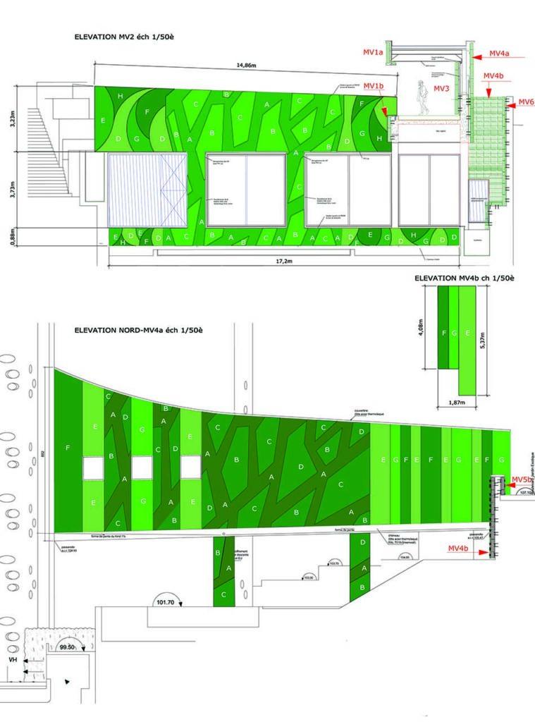 Plan d'un mur végétal à Monaco