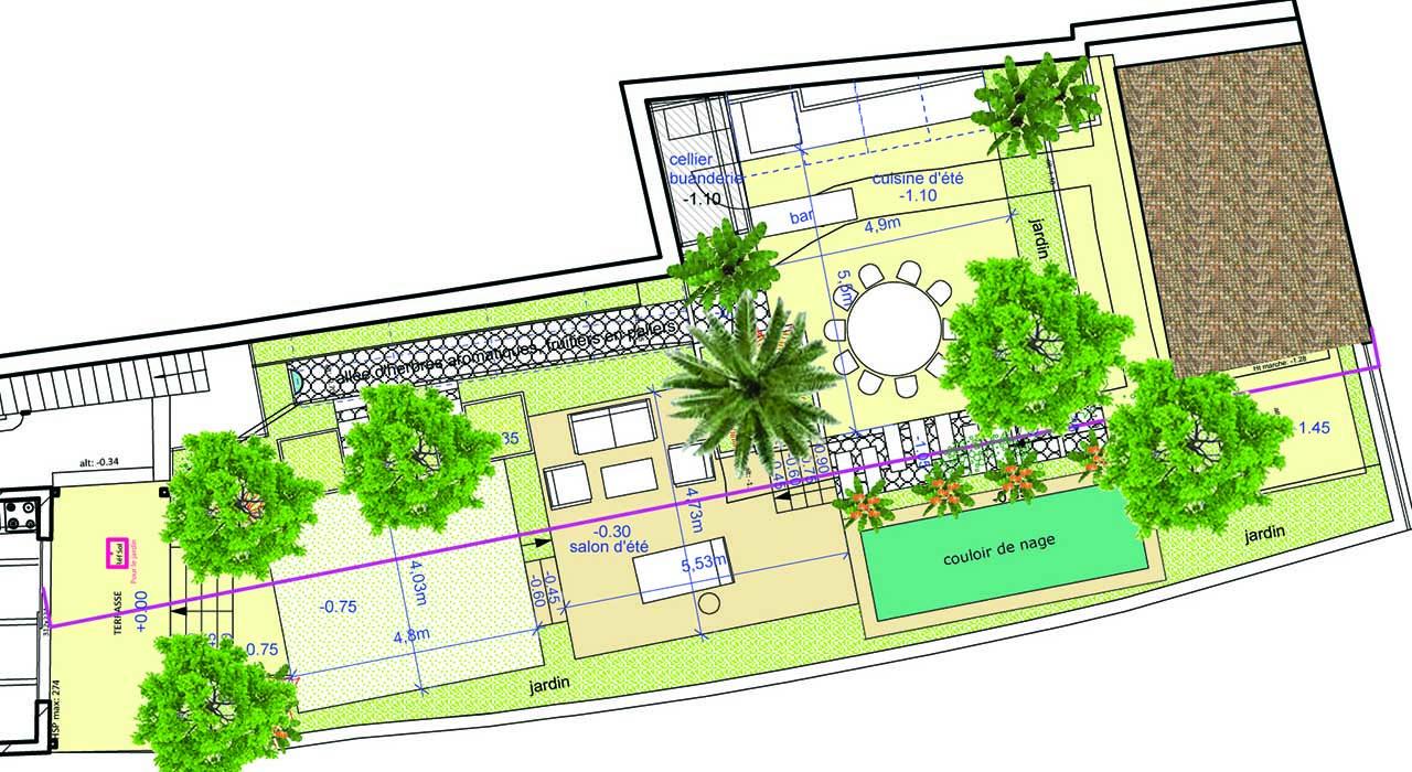 Plan d'un projet de villa